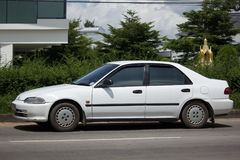 Private Old Car Honda Civic Royalty Free Stock Images