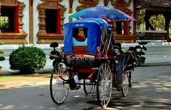 Chiang Mai, Thailand: Sightseeing Horse Carriage Stock Photos