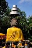 Chiang Mai,Thailand: Stone Buddha Statue at Wat That Khao Royalty Free Stock Photos