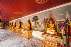 Chiang Mai Thailand Suthep Doi Suthep galleriBuddha Arkivfoton