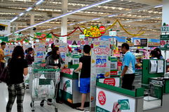 Chiang Mai, Thailand: Tesco-Lotus Superstore Royalty Free Stock Photos