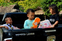Chiang Mai, Thailand: Three Thai Children Royalty Free Stock Photos