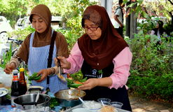 Chiang Mai, Thailand: Two Muslim Women at Market Stock Image