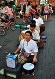 Chiang Mai, Thailand: Vier blinde Musiker stockbild