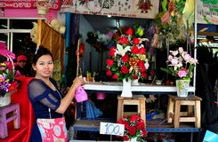 Chiang Mai, Thailand: Warowot Flower Market Stock Images