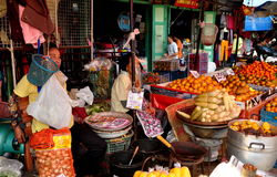Chiang Mai, Thailand: Warowot Food Market Stock Photography
