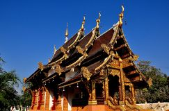 Chiang Mai, Thailand: Wat Chedi Liham Vihan Hall Royalty Free Stock Photos