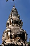 Chiang Mai Thailand: Wat Ku Tao Spherical Chedi royaltyfri bild