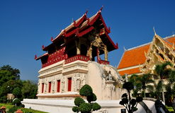 Chiang Mai, Thailand: Wat Phra Singh Library Stock Photo