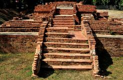 Chiang Mai, Thailand: Wat Pupia Excavations Royalty Free Stock Images