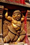 Chiang Mai, Thailand: Wat Sri Suphan Wall Figure Lizenzfreie Stockbilder
