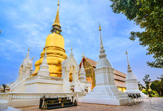 Chiang Mai, Thailand: Wat Suan Dok Chedis. Wat Suan Dok is a Buddhist temple Wat in Chiang Mai, northern Thailand. It& x27;s a Royal Temple of the Third Class Stock Images