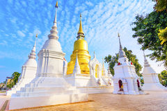 Chiang Mai, Thailand: Wat Suan Dok Chedis. Wat Suan Dok is a Buddhist temple Wat in Chiang Mai, northern Thailand. It& x27;s a Royal Temple of the Third Class Royalty Free Stock Photos