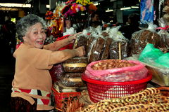 Chiang Mai, Thailand: Woman at Market Stock Images