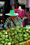 Chiang Mai, Thailand: Woman Selling Mangoes Stock Photos