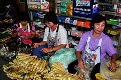 Chiang Mai, Thailand: Women Selling Corn Stock Photography