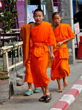 Chiang Mai, Thailand: Young Monks Walking Stock Photography