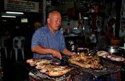 Chiang Mai, Thailnd: Cottura tailandese del cuoco unico Fotografie Stock