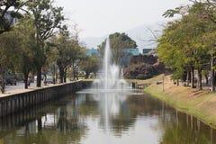 Chiang Mai vallgrav Läge omkring av den gamla staden Chiang Mai Royaltyfri Foto