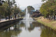 Chiang Mai vallgrav Läge omkring av den gamla staden Chiang Mai Royaltyfria Bilder