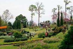 Chiang Mai, viele Leute Thailand-Datums 14-Jan-18 kommen, Florida zu besuchen lizenzfreie stockfotografie