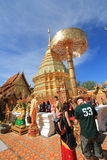Chiang Mai Wat Phra That Doi Suthep royalty-vrije stock foto