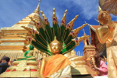 Chiang Mai Wat Phra That Doi Suthep royaltyfri bild
