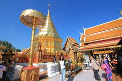 Chiang Mai Wat Phra That Doi Suthep in Thailand Royalty Free Stock Photos