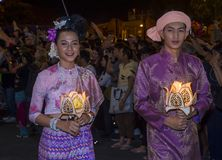 Chiang Mai Yee Peng festival. CHIANG MAI , THAILAND - NOV 04 : Participants in a parade during Yee Peng festival in Chiang Mai , Thailand on November 04 2017 Stock Photo