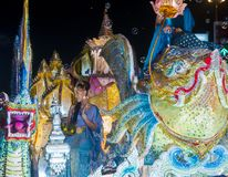 Chiang Mai Yee Peng festival. CHIANG MAI , THAILAND - NOV 04 : Participant in a parade during Yee Peng festival in Chiang Mai , Thailand on November 04 2017 Royalty Free Stock Images