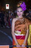 Chiang Mai Yee Peng festival. CHIANG MAI , THAILAND - NOV 04 : Participant in a parade during Yee Peng festival in Chiang Mai , Thailand on November 04 2017 Stock Photos