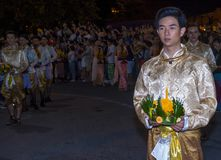 Chiang Mai Yee Peng festival. CHIANG MAI , THAILAND - NOV 04 : Participants in a parade during Yee Peng festival in Chiang Mai , Thailand on November 04 2017 Royalty Free Stock Images