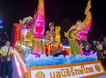 Chiang Mai Yee Peng festival. CHIANG MAI , THAILAND - NOV 04 : Participants in a parade during Yee Peng festival in Chiang Mai , Thailand on November 04 2017 Stock Images