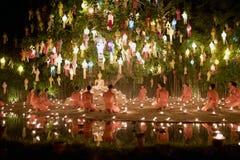 Chiang Mai Yi Peng Festival Fotografia Stock Libera da Diritti