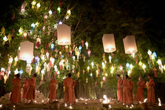Chiang Mai Yi Peng Festival Immagine Stock