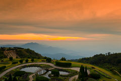 Chiang- Maiprovinz, Doi inthanon Nationalpark. Stockfotografie