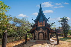 Chiang Rai στο βόρειο μουσείο σπιτιών της Ταϊλάνδης μαύρο Στοκ φωτογραφία με δικαίωμα ελεύθερης χρήσης
