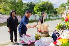 CHIANG RAI, ТАИЛАНД - 19-ОЕ НОЯБРЯ: неопознанное PA тайских людей Стоковые Изображения