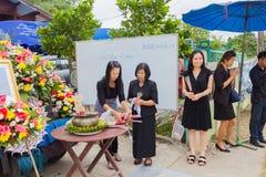 CHIANG RAI, ТАИЛАНД - 19-ОЕ НОЯБРЯ: неопознанное PA тайских людей Стоковые Изображения RF