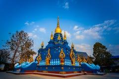 Chiang Rai Blue Temple o Wat Rong Seua Ten está situado en Chiang Rai fotografía de archivo