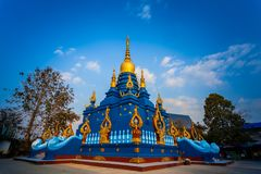 Chiang Rai Blue Temple ou Wat Rong Seua Ten est situé en Chiang Rai photographie stock
