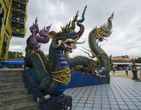Chiang Rai Blue temple Stock Photography