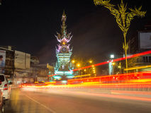 Chiang Rai Clock Tower Stock Foto's