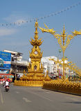 Chiang Rai Colden Clock Tower Stock Images