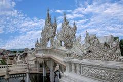 Chiang Rai en Thaïlande du nord Baimiao a appelé : Long Kun Temple, Linh Quang ou Dragon Temple blanc et x28 ; Wat Rong Khun et x images libres de droits