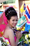 Chiang Rai Flower Festival Photo stock
