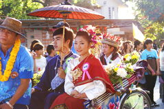 Chiang Rai Flower Festival image stock