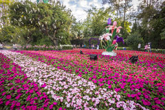 Chiang Rai Flower Festival & musik i parkera 2015 Arkivbild