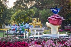 Chiang Rai Flower Festival & musik i parkera 2015 Arkivfoto