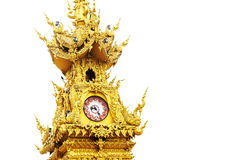 Chiang Rai golden clock tower Royalty Free Stock Image